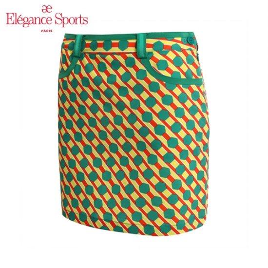 여성용 컬러풀 패턴 큐롯팬츠_GREEN_ELL2CU02_552