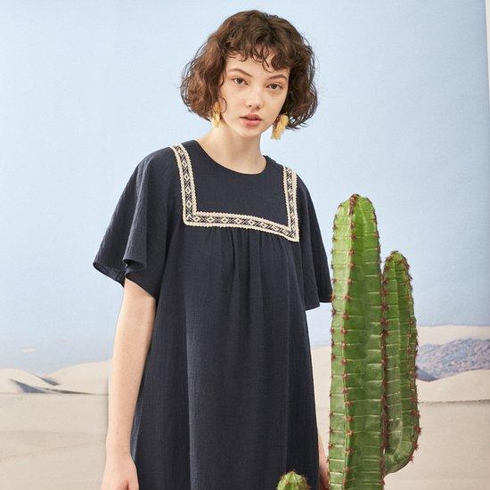 [DAAMA4031M] 에스닉 스퀘어 드레스
