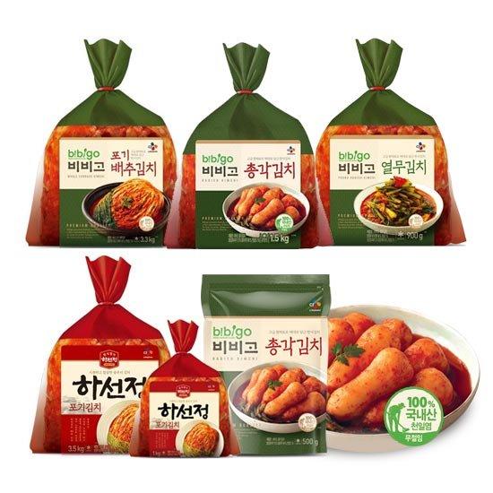 [CJ] 화제의 비비고/하선정 김치 <포기/총각/열무>