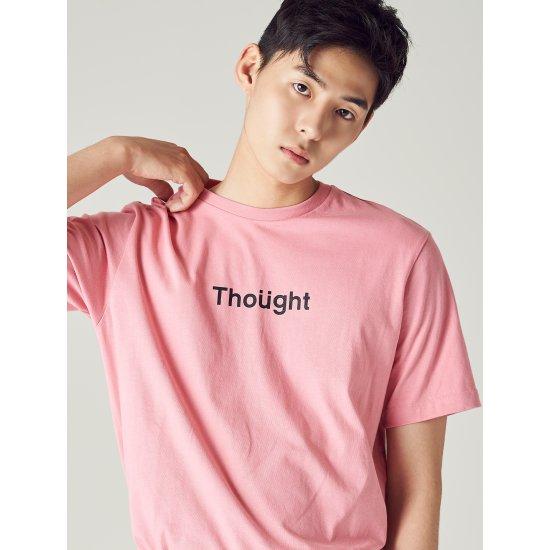 에잇세컨즈 핑크 레터링 티셔츠 268742TY7X