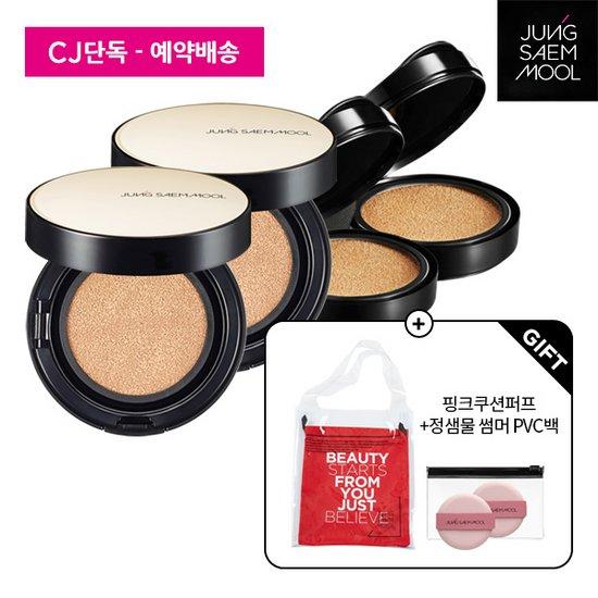 정샘물 CJ단독 스킨 누더/롱웨어 쿠션 세트-본품2+리필2