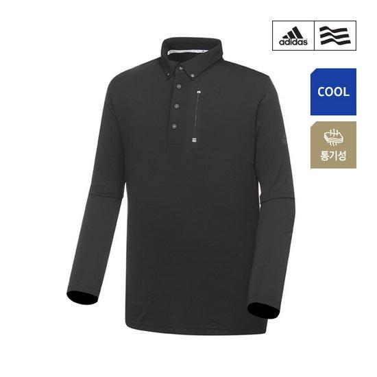 [아디다스골프] 남성 클라이마쿨 웰딩포켓 폴로 긴팔 티셔츠 CZ