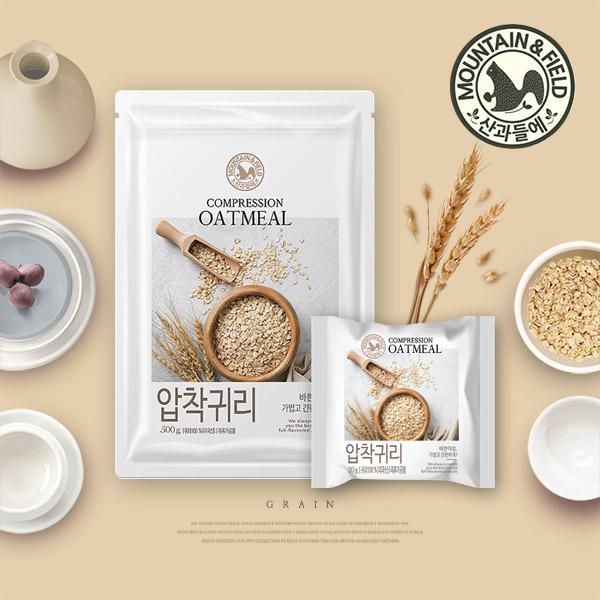 [산과들에] 오트밀 압착귀리 500g /1kg 택1