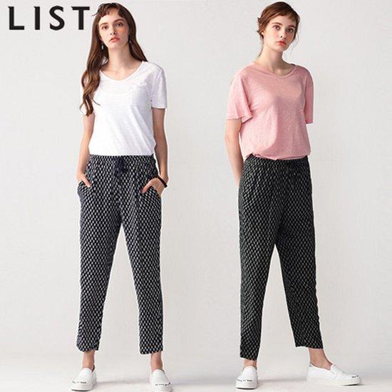 [리스트] 엣지 패턴포인트 밴딩 팬츠