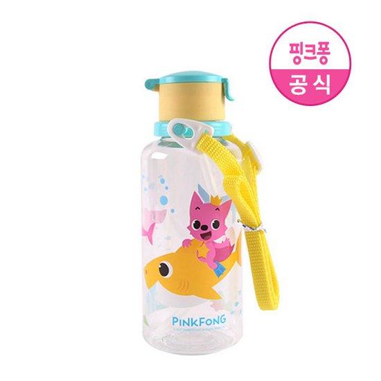 [아이조움] 핑크퐁 어깨끈 빨대 물병 380ml