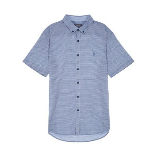 헤지스남성 WHSH7B169N2 스트라이프 면 반팔캐주얼셔츠