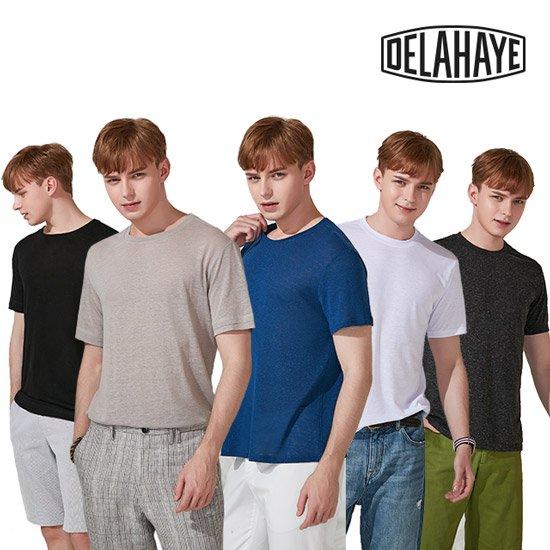 [카탈]들라이에 남성 린넨 혼방 티셔츠 5종세트
