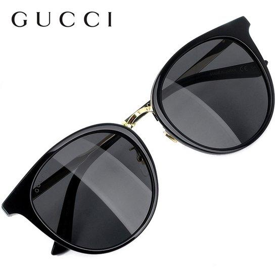 구찌 아시안핏 명품 뿔테 선글라스 GG0204SK-001 / GUCCI