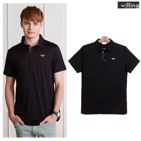 이동수윌링 남성 쿨링 카라 티셔츠WH7BMTS800-BK