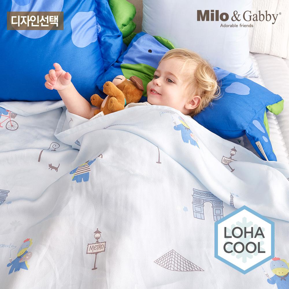 [밀로앤개비] 유아 인견 여름이불 L 슈퍼싱글 - 디자인선택