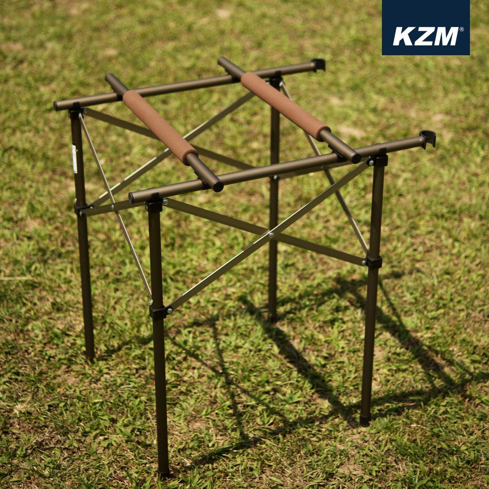 카즈미 트윈 스토브 스탠드 K8T3U004 / 캠핑용품 캠핑 키친테이블 버너스탠드