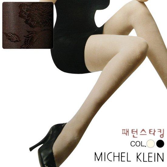 MKST9002 미쉘클랑 고탄력 장미패턴 여성 팬티 스타킹