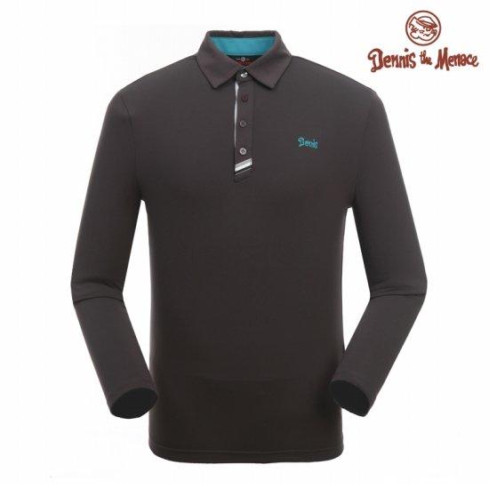 데니스  남성 데니스 자수 카라 티셔츠N6FMTS902-GY