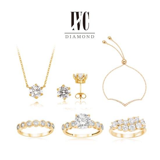 [오플] 4C다이아몬드 14K 2캐럿 타임리스 반지 컬렉션_옐로우