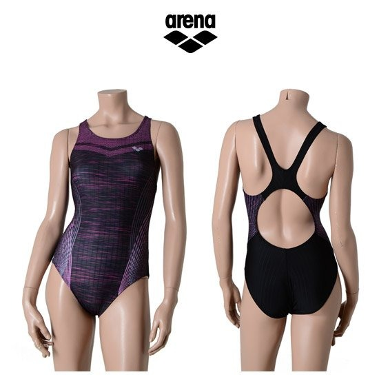 아레나 여성 일반 원피스 수영복 AUFPL06BLK
