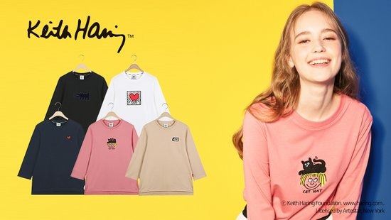 [오플]키스해링 18 Prefall 여성 라이트스웻 티셔츠 5종