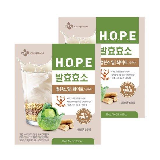 [다이어트쉐이크] HOPE 밸런스밀 화이트  2박스_28포