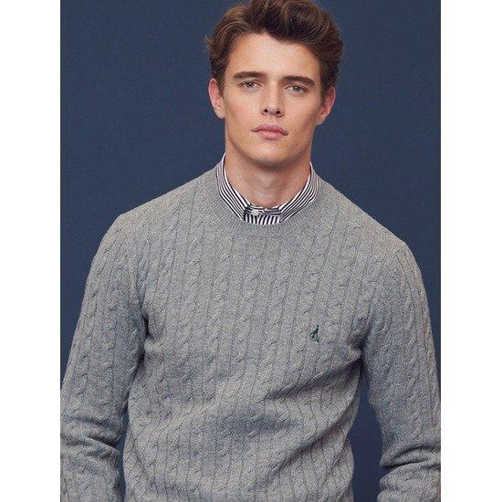 빈폴  그레이 라운드넥 스웨터 BC8851A063