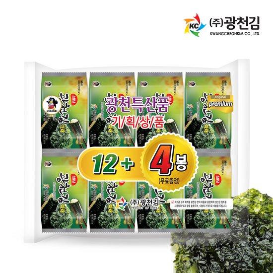 [광천김] 본사직배송 소문난 광천김 파래 도시락김 80g 5gx16봉