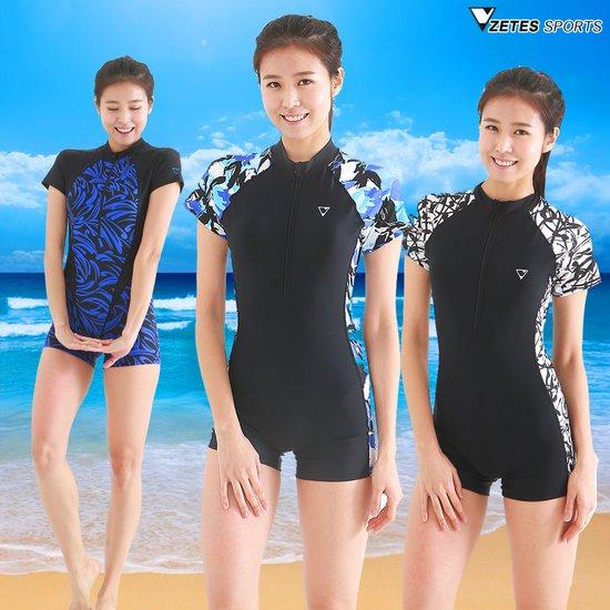 제테스 여성 수영복,반팔 짚업 원피스수영복 기획전,사은행사