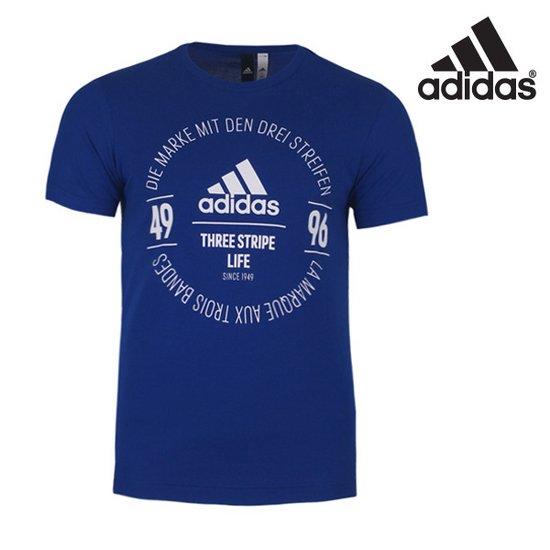 아디다스 남성 로고 반팔 티셔츠 - BK2803