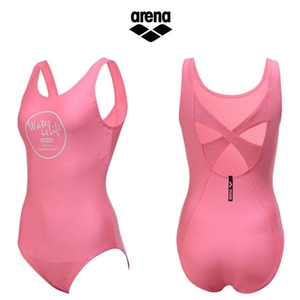 [하프클럽/아레나]아레나 여성 일반 원피스 수영복 AUBLO01PNK