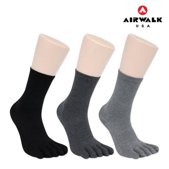 에어워크 남성 얇은 솜털 기모 발가락 양말 1족