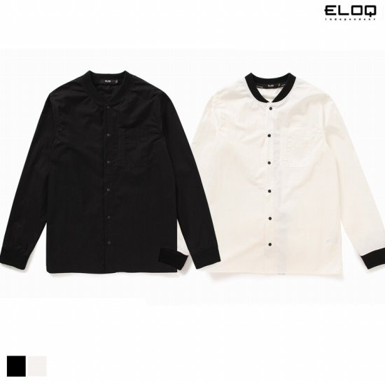 ELOQ 남성 RIB포인트 레터링 셔츠B166MSH122M