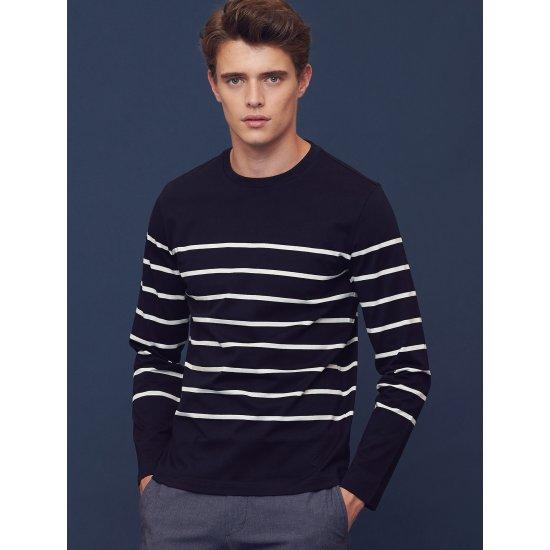 빈폴  네이비 스트라이프 티셔츠 BC8741A15R