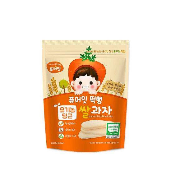 퓨어잇떡뻥 유기농 당근쌀과자