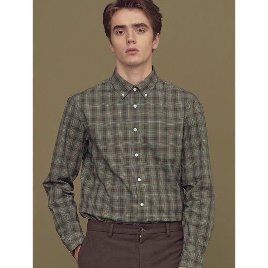 빈폴  카키 스몰 타탄 체크 셔츠 BC8864A21H