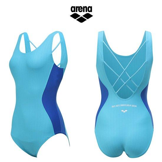 아레나 여성 일반 원피스 수영복 AUFLO97BLU