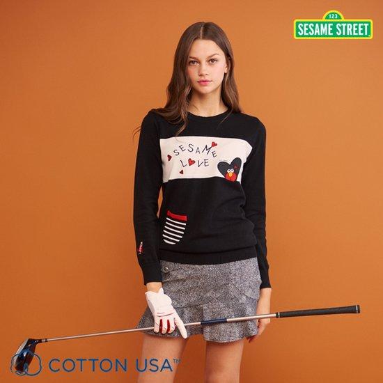 세서미스트리트 골프 여성 일루미네이션 퓨어코튼 니트 3종