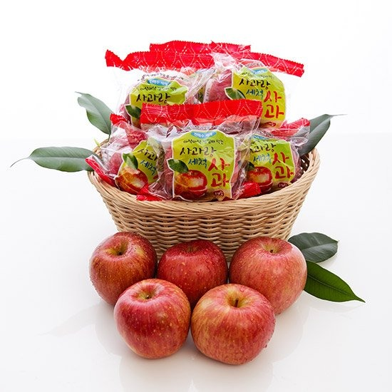 [사과랑] 껍질째 먹는 햇 세척사과 3kg/4kg 外