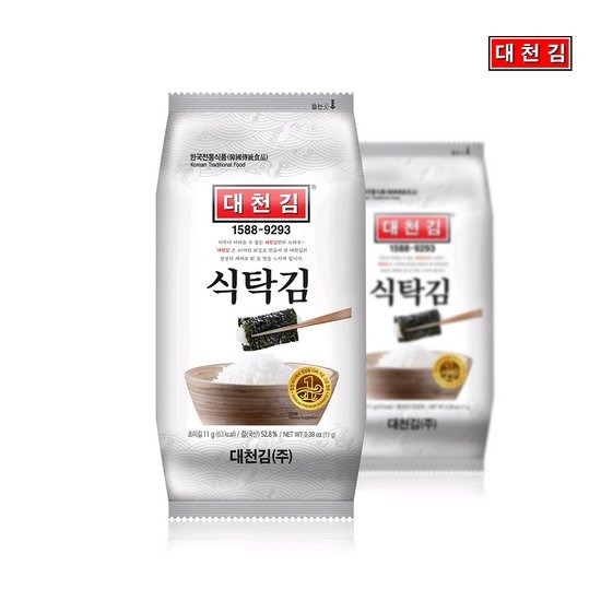 대천김 미니 식탁김 11g x 15봉