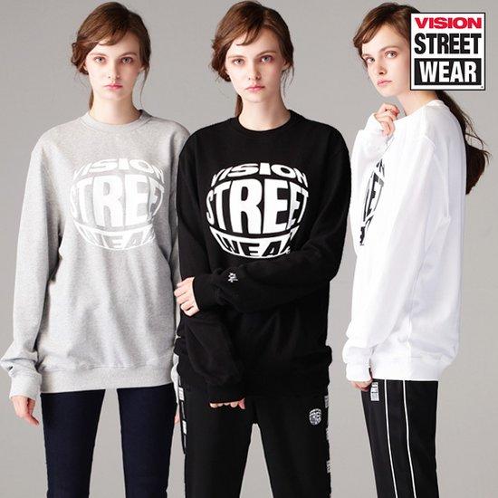 [비젼스트릿웨어] 남녀공용 써클링 로고 맨투맨 티셔츠