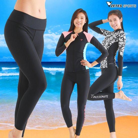 제테스 여성수영복 팬츠,9부 워터레깅스,서핑,비치웨어