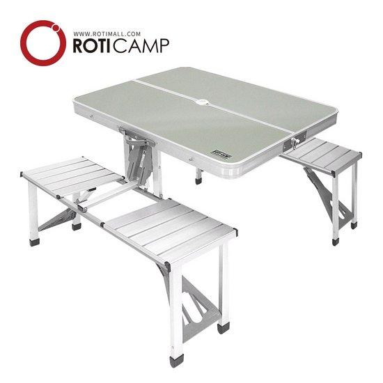 의자일체형 알루미늄 벤치 접이식 테이블