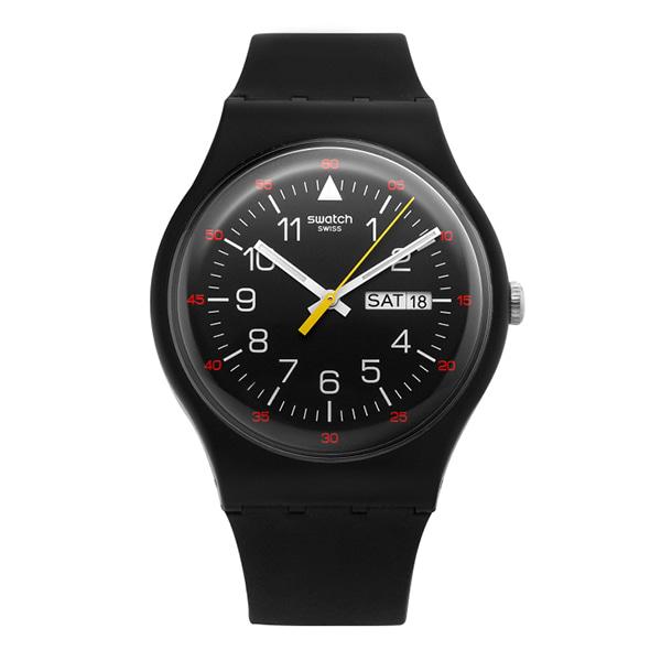 SWATCH 스와치 SUOB724 Yokorace Black Dial 남성 젤리시계
