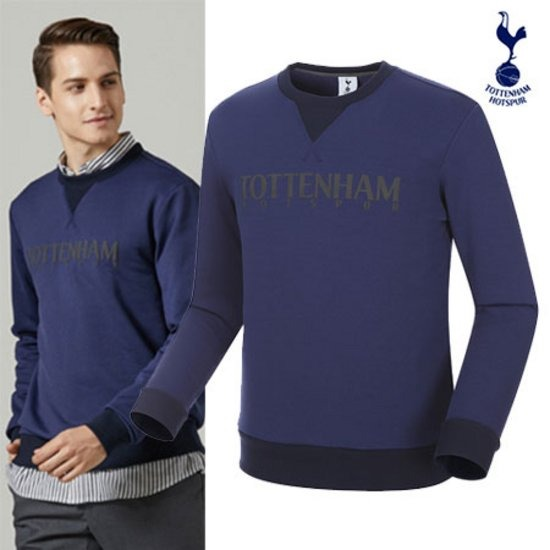 Tottenham  남성 레터링 맨투맨 티셔츠 THLT731NVM