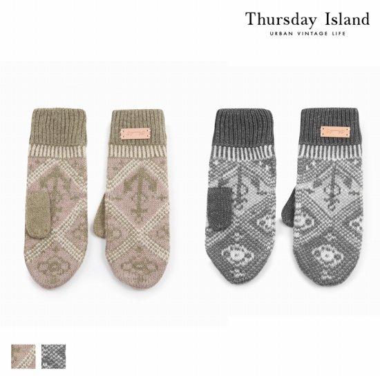 Thursday Island 여성 밀리터리 패턴 벙어리 장갑T168MGV233W