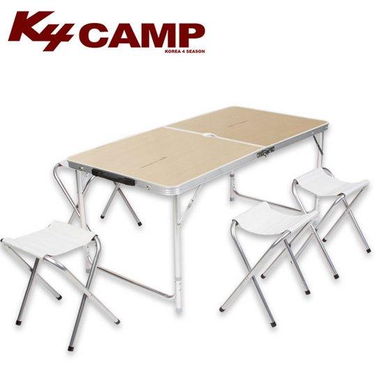 K4camp 120 고급 캠핑테이블-내열코팅 접이식테이블