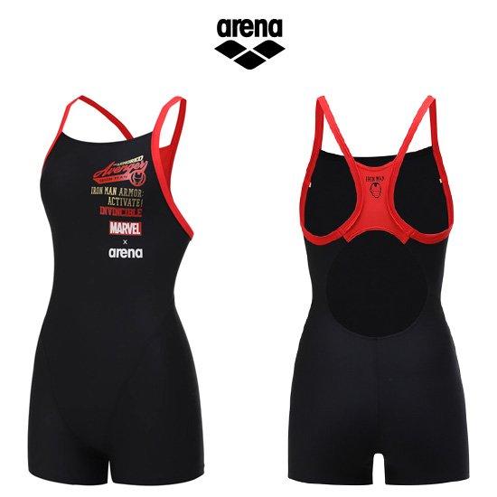 마블 여성 선수 2부반신 수영복 AUFCE92BLK