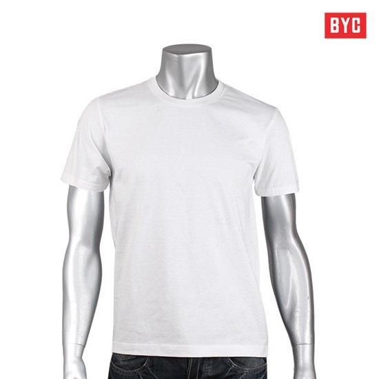 [BYC] 순면 백색 반팔티셔츠/언더셔츠/교복티셔츠