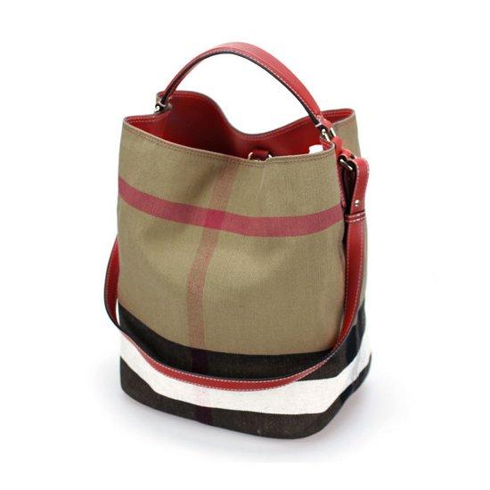 버버리 여자가방 39457281 CANVAS HOBO BAG RED 레드 호보백