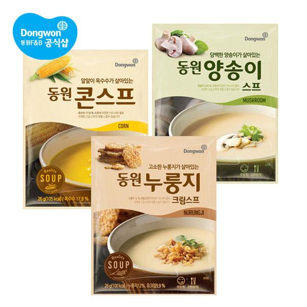 동원 풍부한 스프 3종 20봉 + 당근칩 1봉