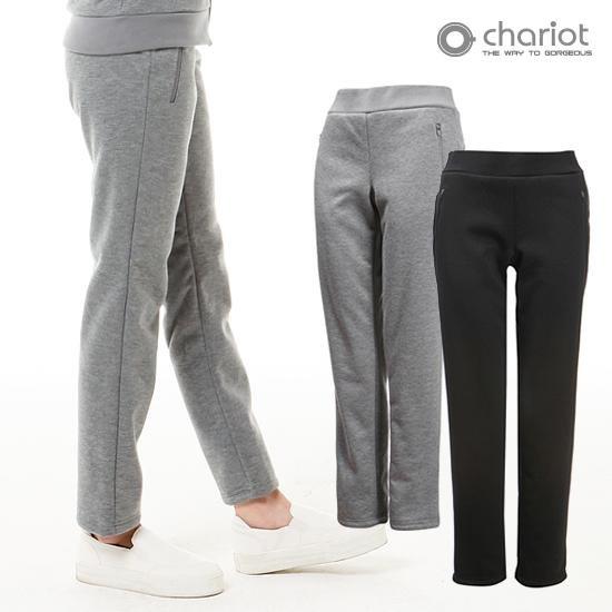 [채리어트]여성 기모안감 배색 팬츠