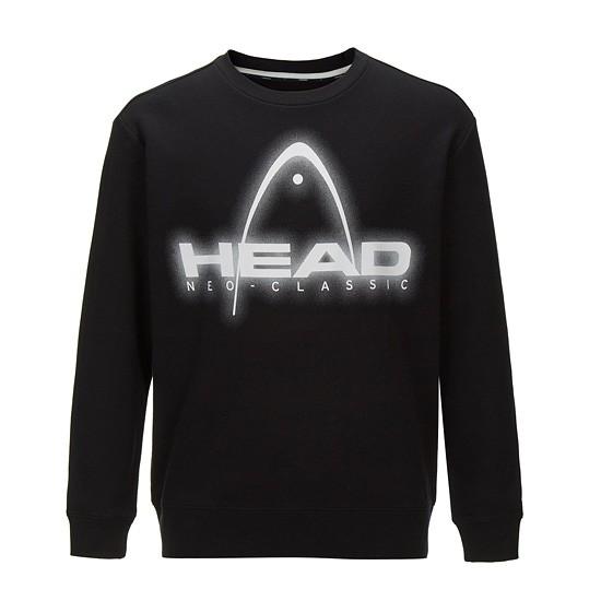 HEAD  남성 NCT 전판 로고 맨투맨 티셔츠_JHTDA18001BKX
