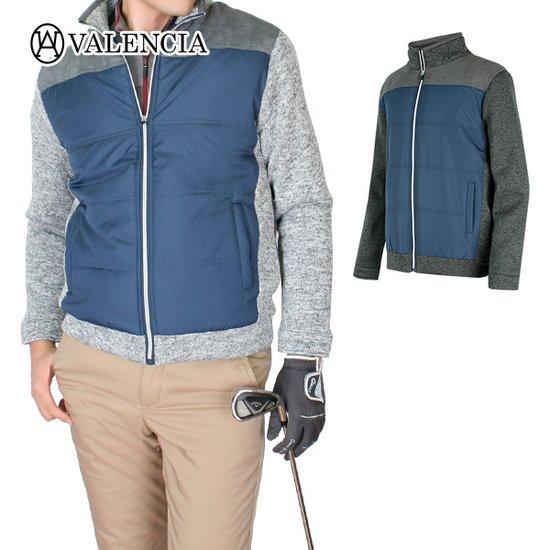 발렌시아 남성 골프웨어 겨울 스웨이드 바람막이 남자자켓