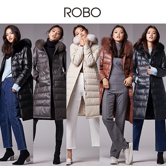[ROBO]로보 폭스퍼 양가죽 구스 다운